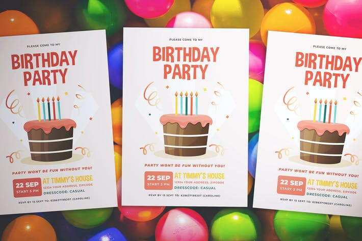 Thumbnail for Birthday Party Flyer