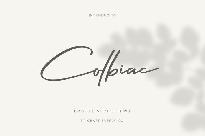 Thumbnail for Colbiac - Fuente de script casual