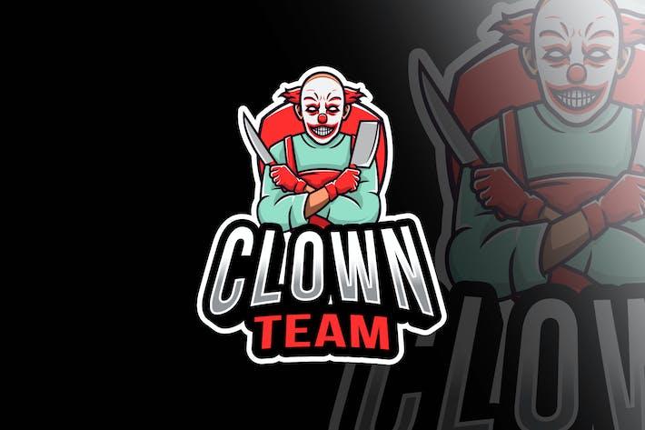 Thumbnail for Clown Team Esport Logo Template