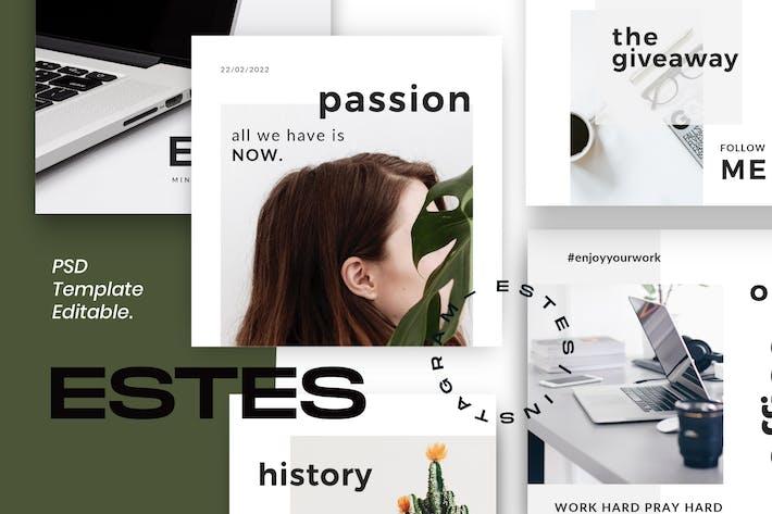 Thumbnail for ESTES - Clean Social Media Marketing Pack 1