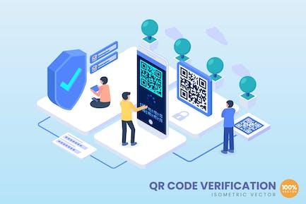Isometric QR Qode Verification Concept