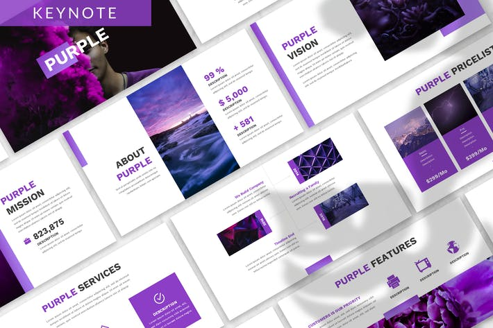 Cover Image For Purple - Business Keynote Template
