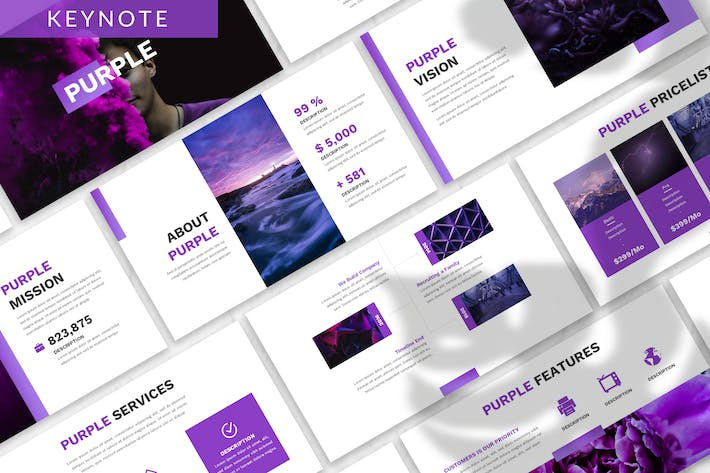 Thumbnail for Purple - Business Keynote Template