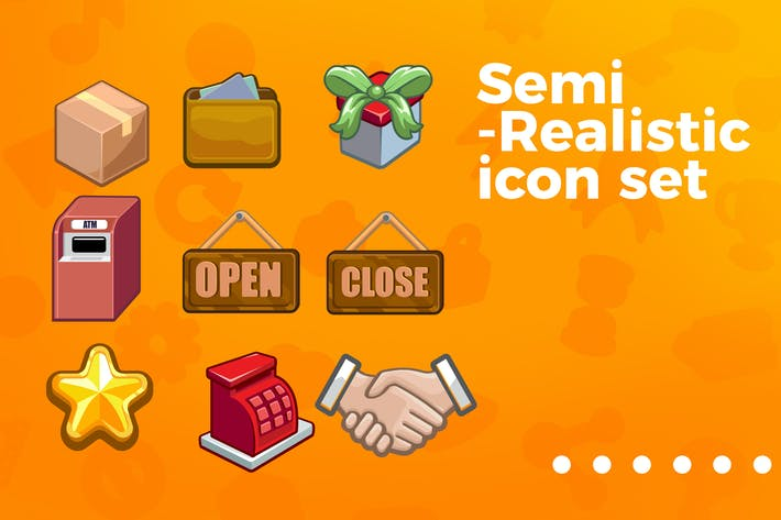 Thumbnail for Games and applications icon set vol 7