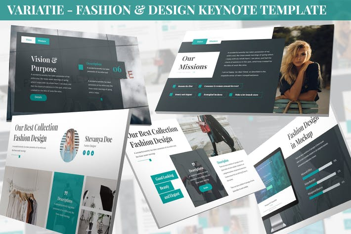 Thumbnail for Variatie - Fashion & Design Keynote Template