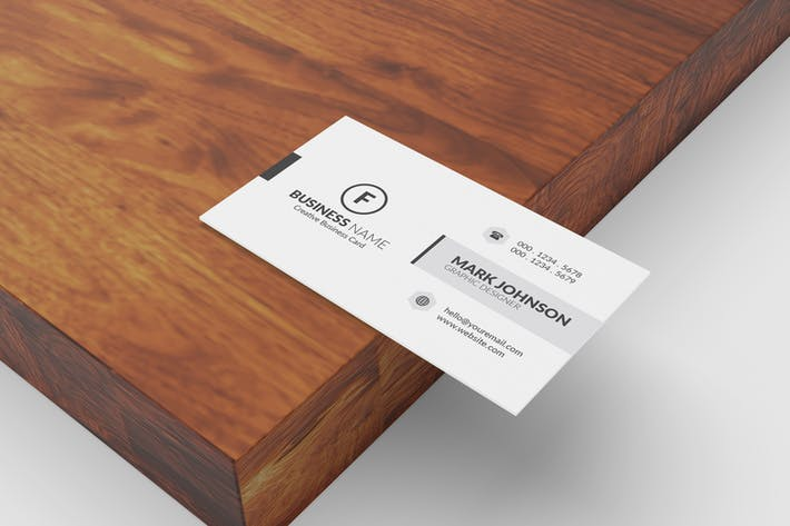 Thumbnail for Minimalist Business Cards Mockup