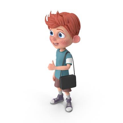 Cartoon Junge Charlie Reisen