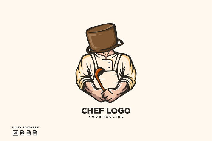 Thumbnail for Cheff Logo Template