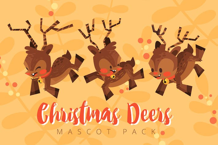 Thumbnail for Christmas Deer Mascot Pack