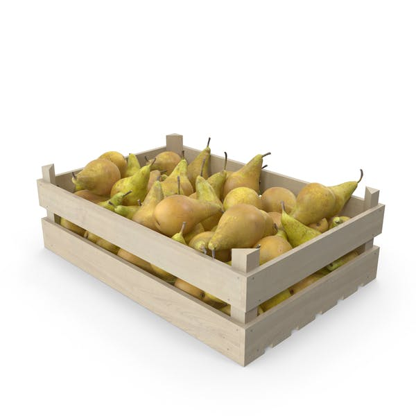 Wooden Conference Pear Crate