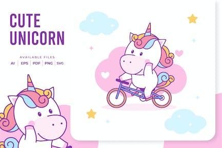 Unicorn Riding Bike