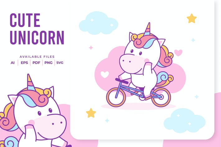 Thumbnail for Unicorn Riding Bike