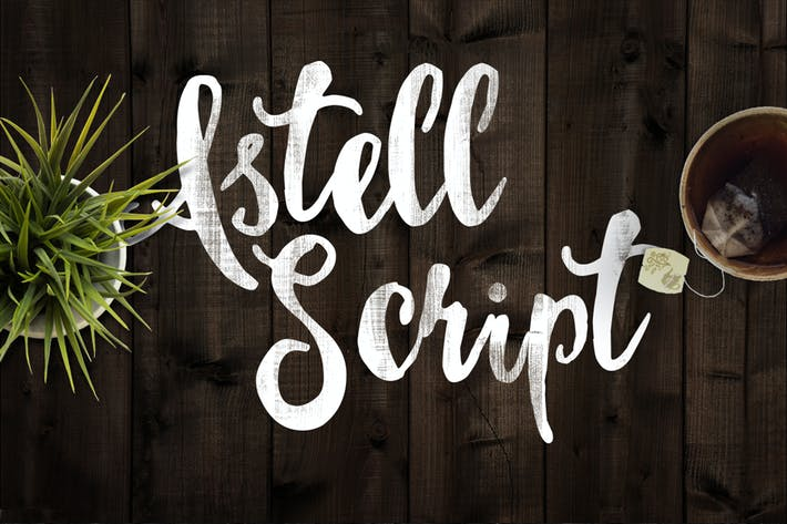 Cover Image For Astel Script Typeface