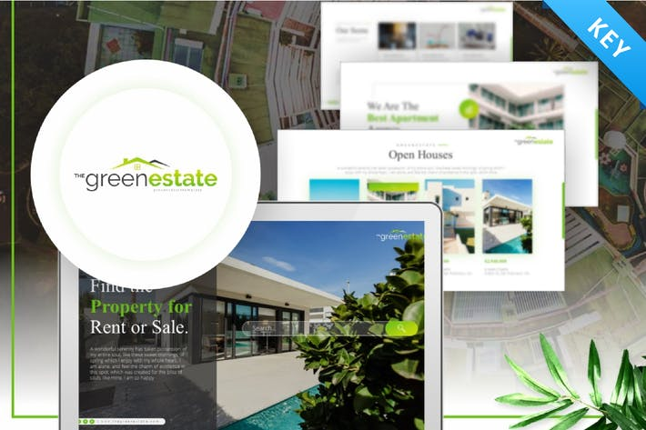 Thumbnail for Greenestate Real Estate Keynote Template