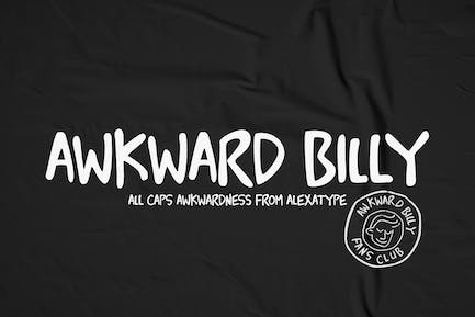 Awkward Billy - All caps font