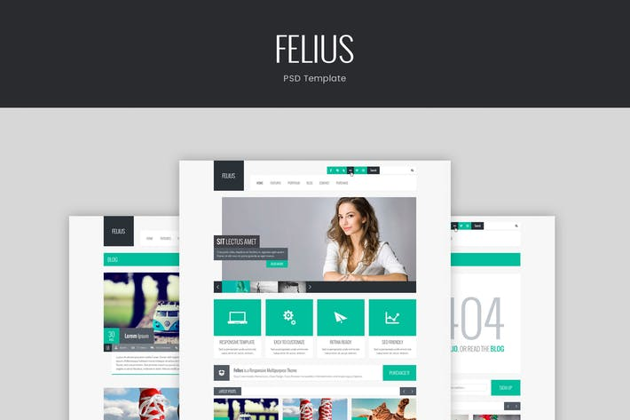 Thumbnail for Felius – PSD Template