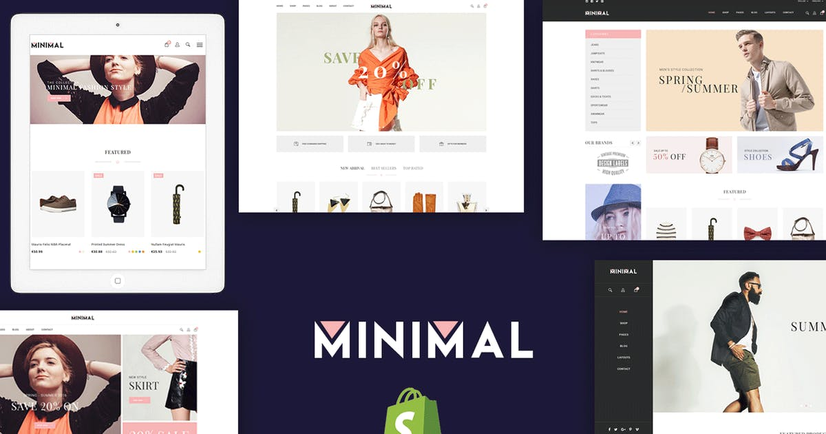 Download JMS Minimal - Responsive Shopify Theme by joommasters