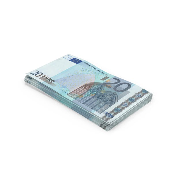 20 Euro Bill Stack