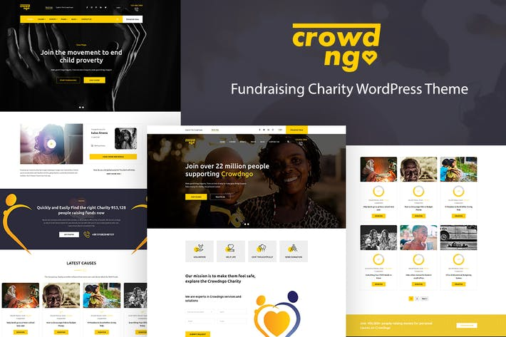 Crowdngo – Fundraising Charity WordPress Theme