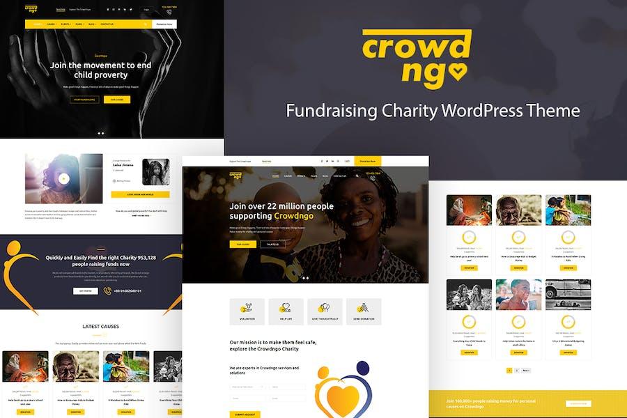 Crowdngo – Fundraising Charity WordPress Theme