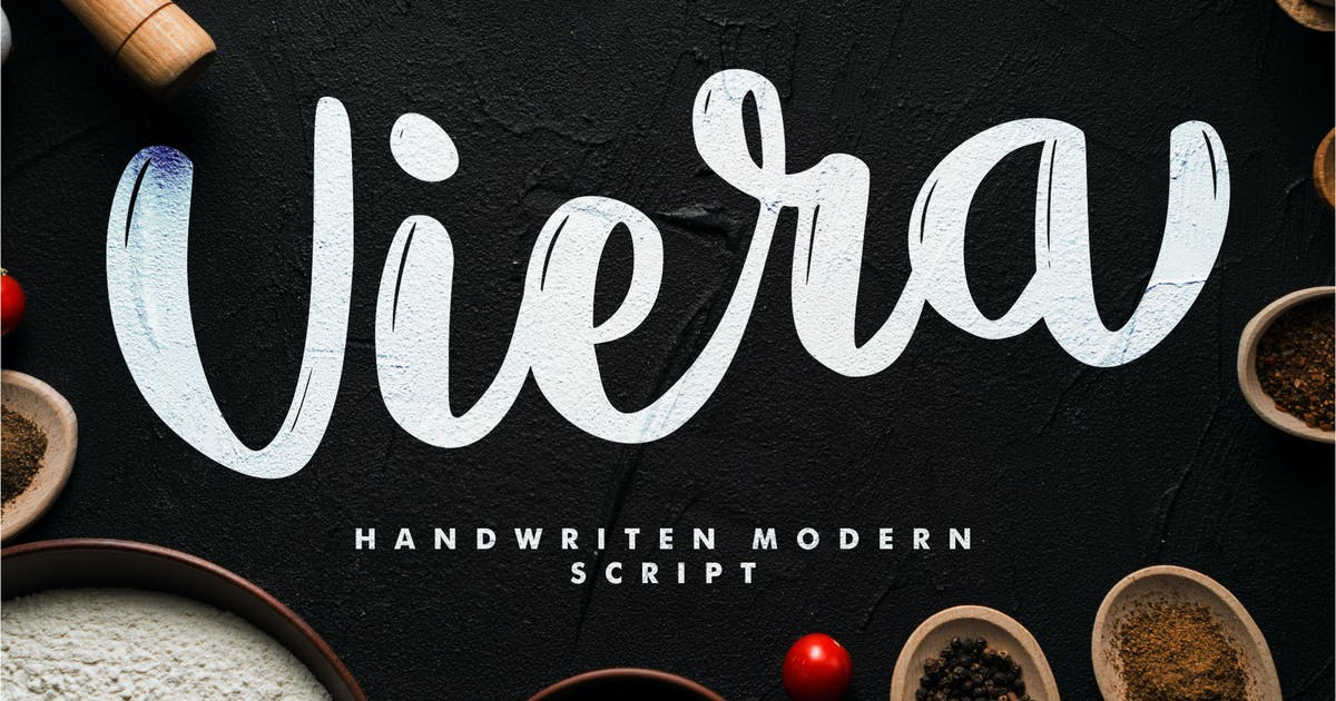 Download Viera - Handwritten Modern Script by IanMikraz