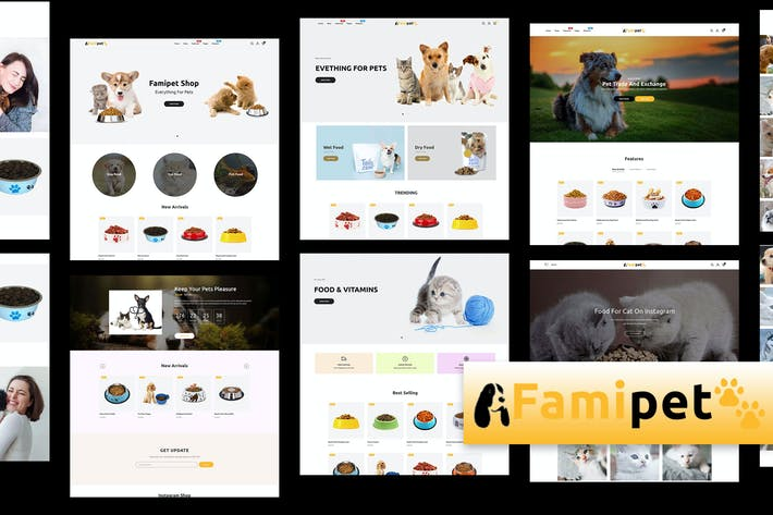 Thumbnail for Famipet - Animal Food Shop Responsive Shopify Thème