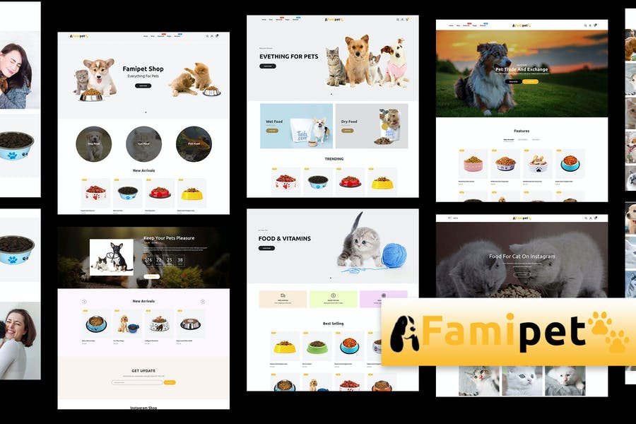 Famipet - Pet Food Shop Responsive Shopify Theme - product preview 0