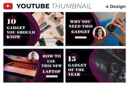 Modèle de vignette Youtube Thème Gadget