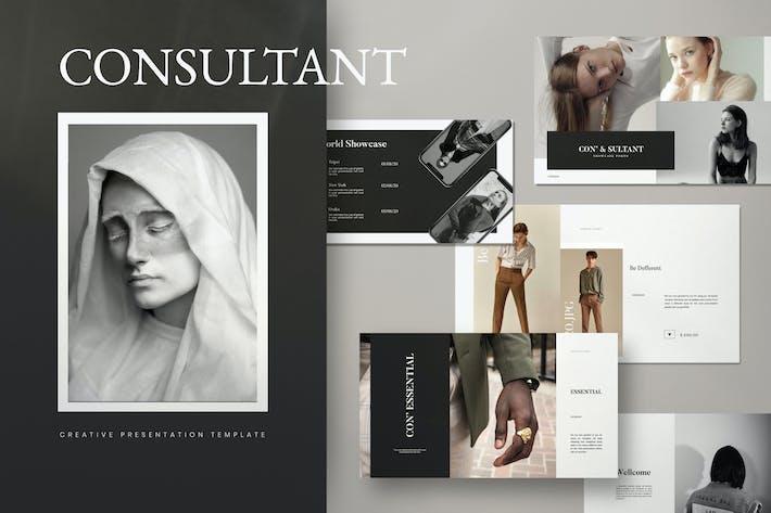 Consultant - Google Slides Minimalis Creative