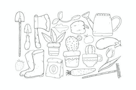 Home Gardening Doodles