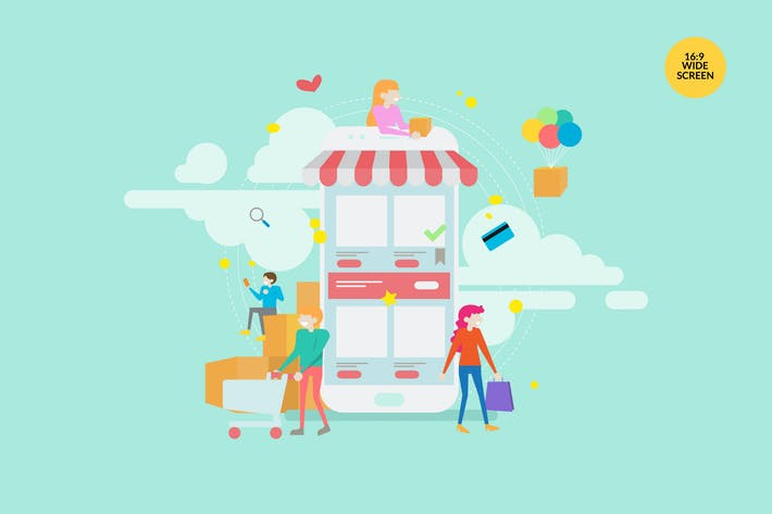 Thumbnail for Online Shopping Vector Concept Illustration