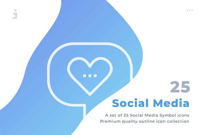 Thumbnail for 25 Social Media icon set