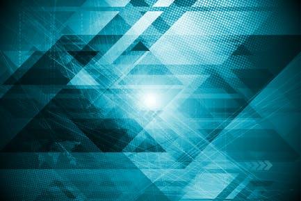 Abstrakter, futuristischer, geometrischer Hintergrund