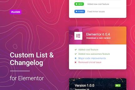 Changelog & Custom List for Elementor