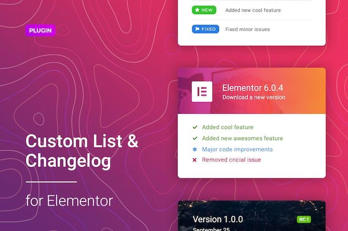 Thumbnail for Changelog & Custom List for Elementor