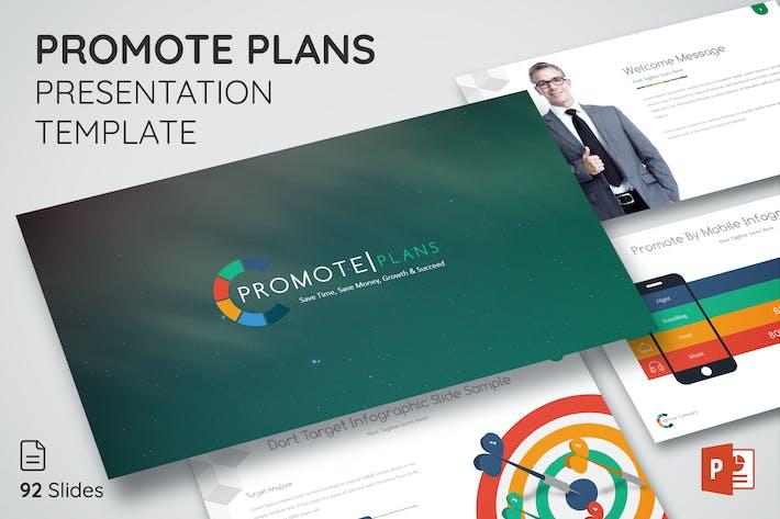Продвижение планов - Шаблон презентации Powerpoint