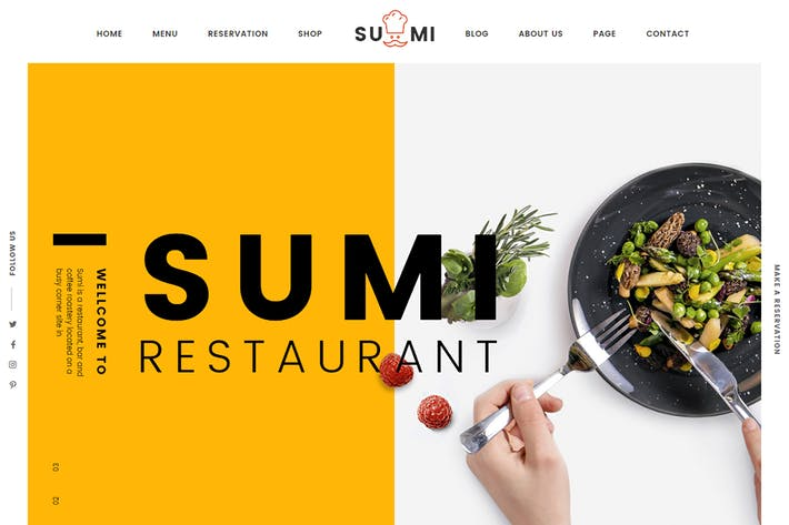 Thumbnail for Sumi Restaurant HTML Template