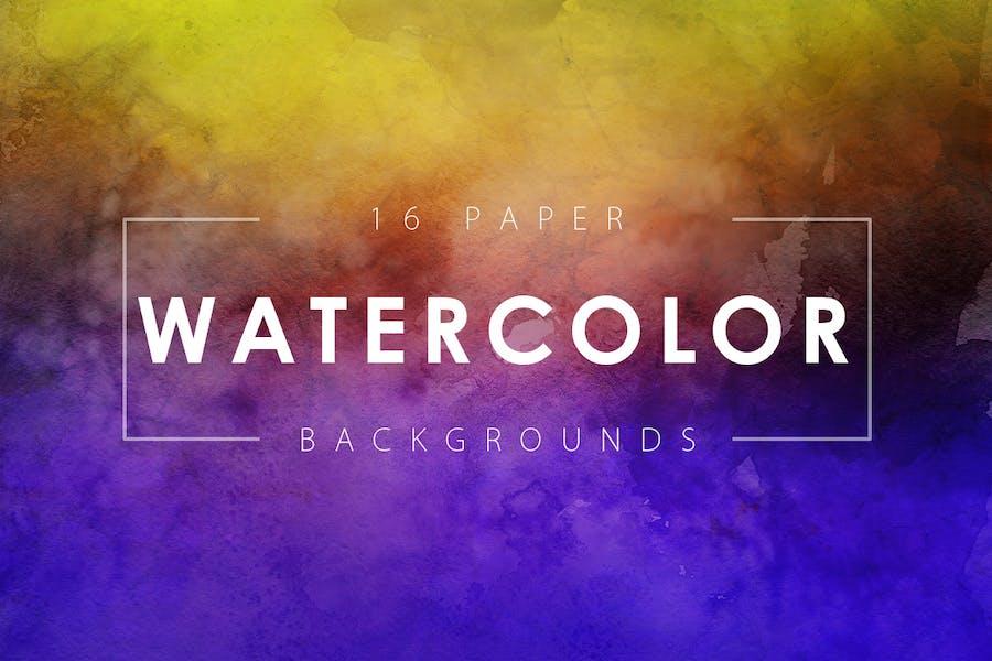 16 Watercolor Paper Backgrounds Vol. 2