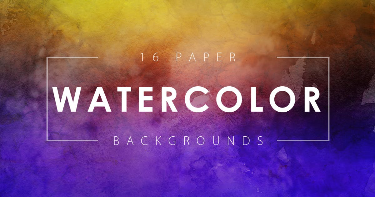 Download 16 Watercolor Paper Backgrounds Vol. 2 by M-e-f