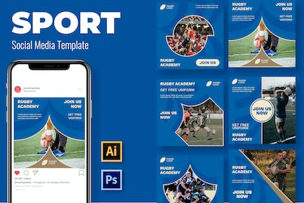 Rugby Join Social Media Template