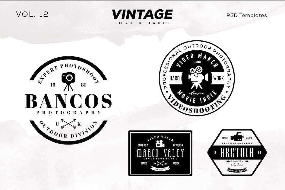Download Vintage Logo & Badge Vol. 12 by sagesmask