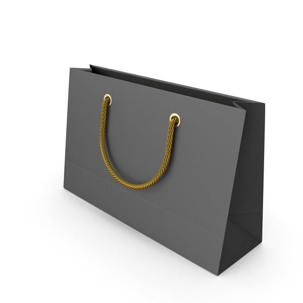 Черный упаковочный мешок с золотыми ручками