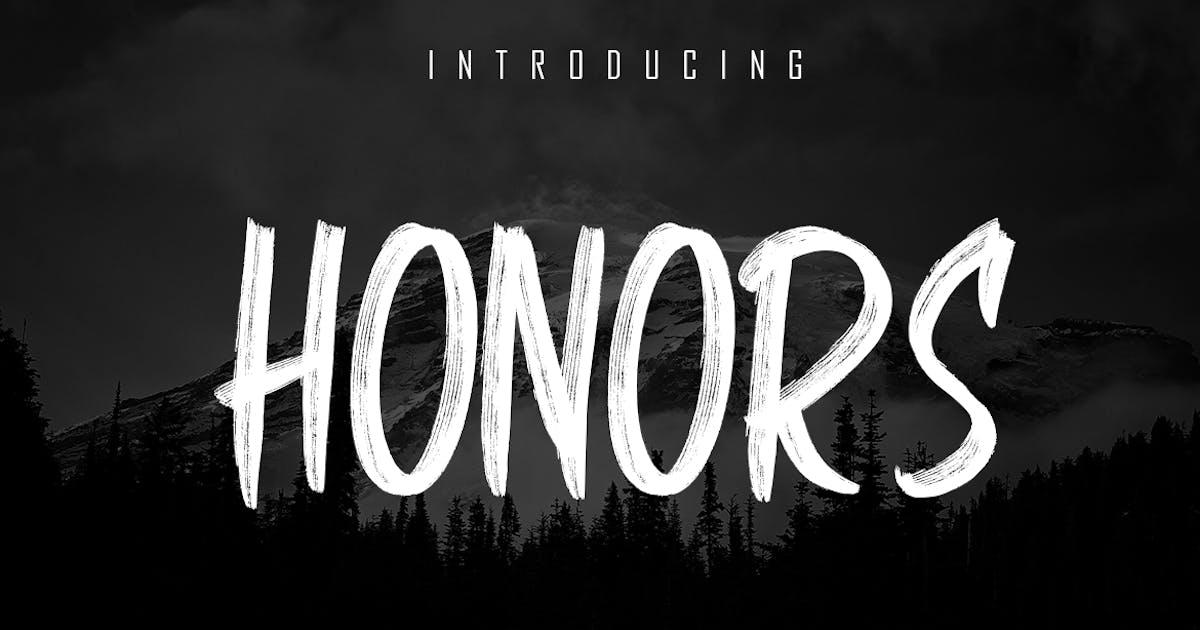 Download HONORS - Handbrush Font by Skiiller_studio