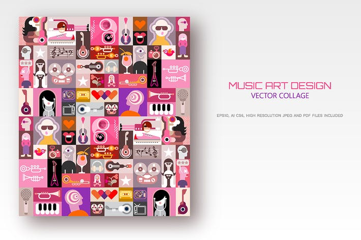 Thumbnail for Music Art Design vector illustration