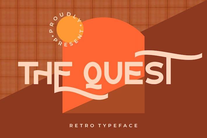 The Quest Retro Typeface