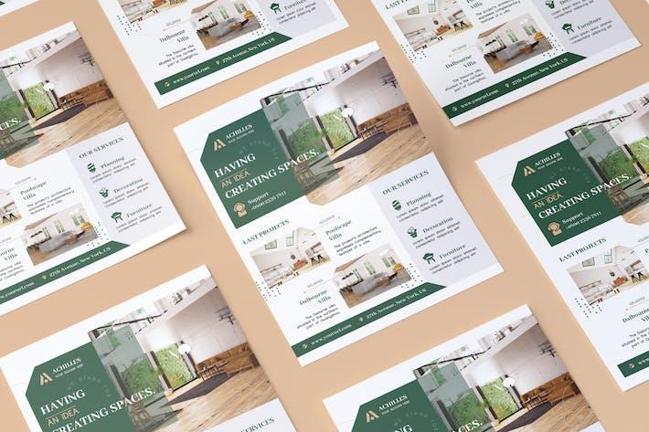 Thumbnail for Architecture & Interior Designer Flyer