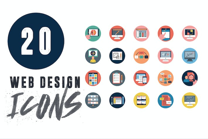 Thumbnail for 20 Web Application Icons