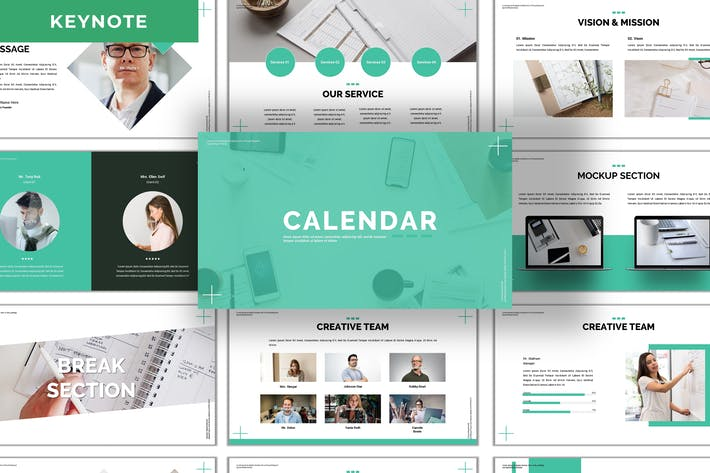 Thumbnail for Calendar - Business Keynote Template