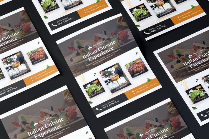 Cover Image For Fresh Food Flyer PSD Template
