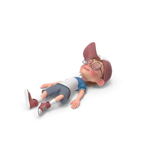 Cartoon Boy Resting